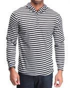 Buyers Picks - Henley striped hoodie top