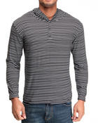 Buyers Picks - Henley striped hoodie