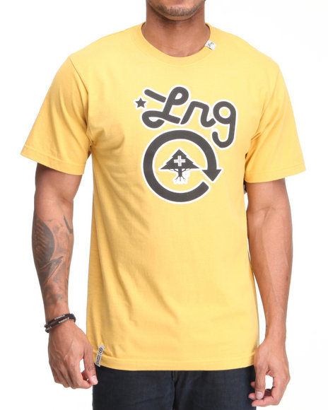 Lrg Men Yellow Core Collection One S/S Tee