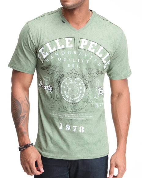 Pelle Pelle Men Green 78 S/S V-Neck Tee