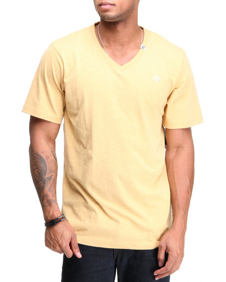 Lrg Men Yellow Core Collection Tri - Blend V - Neck S/S Tee