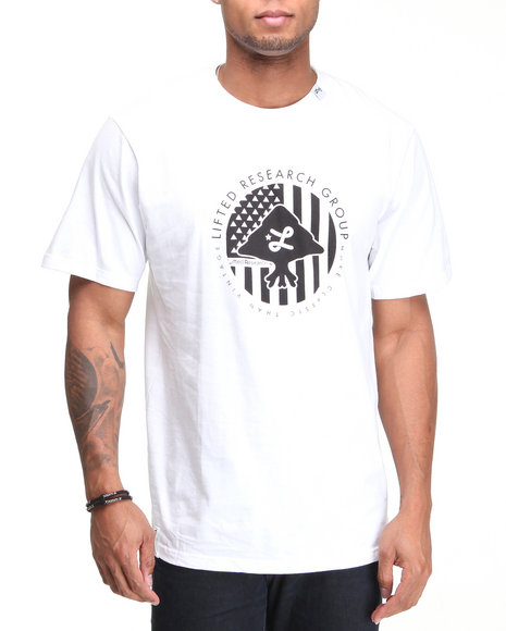 Lrg Men White Trees And Stripes Tee