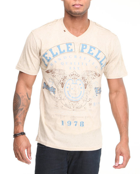 Pelle Pelle Men Off White 78 S/S V-Neck Tee