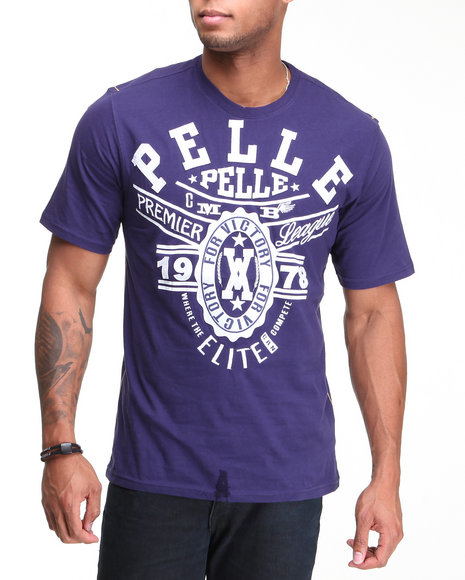 Pelle Pelle Men Purple Pelle Elite S/S Tee