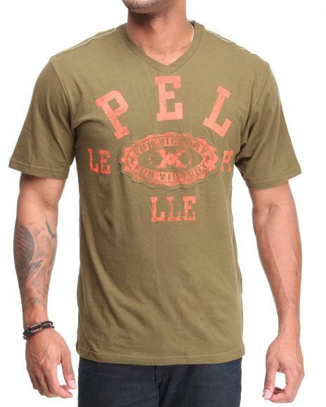 Pelle Pelle Men Olive Victory S/S V-Neck Tee