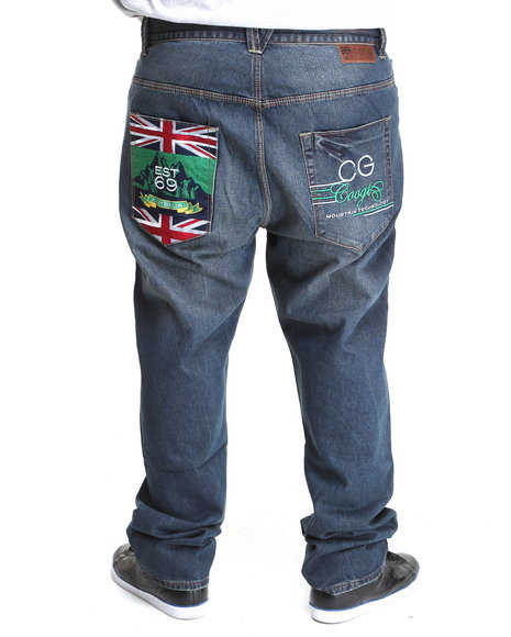 Coogi Men Dark Wash Expedition Dk Blue Wash Denim Jeans (B&T)