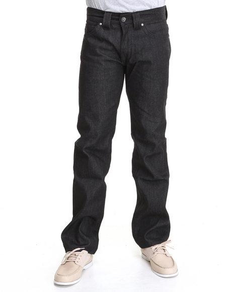 Pelle Pelle Men Black Pu Loop Denim Jeans