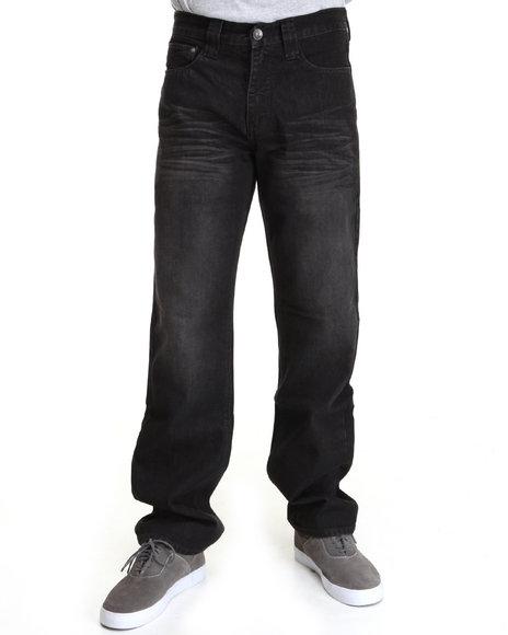 Pelle Pelle Men Black Pelle Distressed Denim Jeans