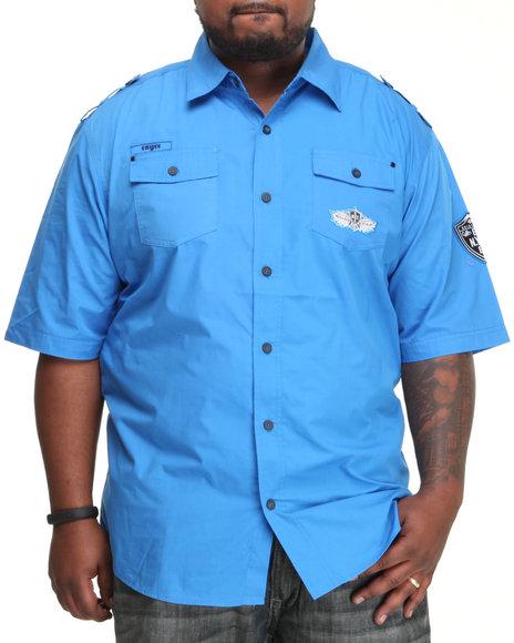 Enyce Men Blue Enyce Shield Short Sleeve Woven (B&T)