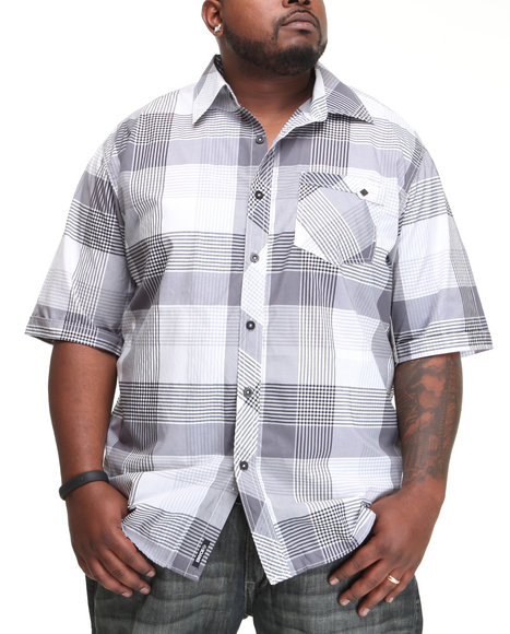 Enyce Men White Telegraph Short Sleeve Woven (B&T)