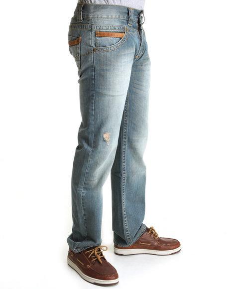 Pelle Pelle Men Light Wash American Legend Phone Pocket Denim Jeans