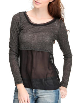 Fashion Lab - Chiffon & Lurex long sleeve top