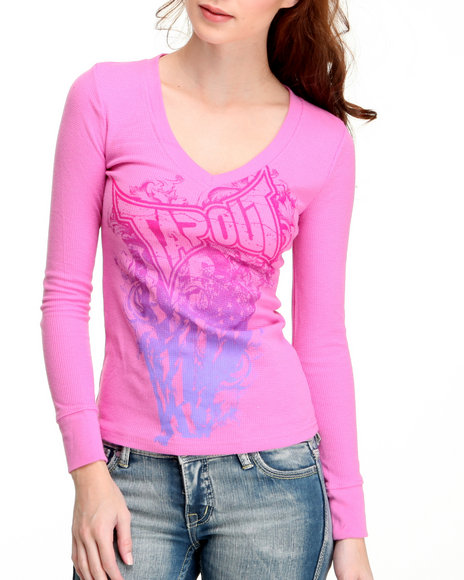 Tapout Women Pink Thermal Tee
