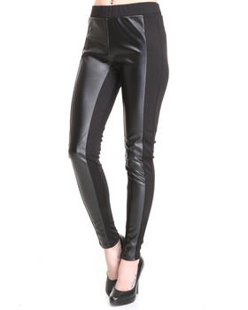 Fashion Lab - Vegan leather Ponte leggings