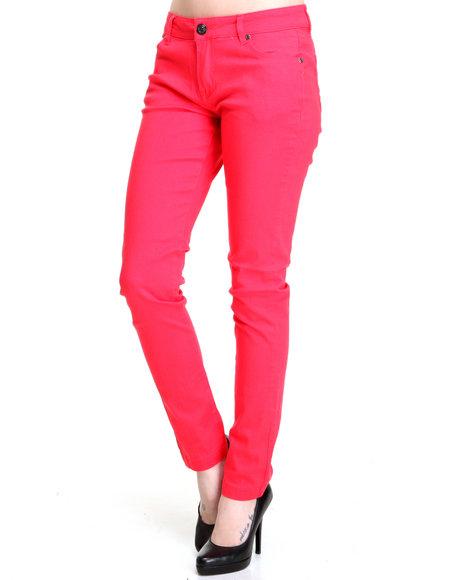 Basic Essentials - Women Pink Jean Pants