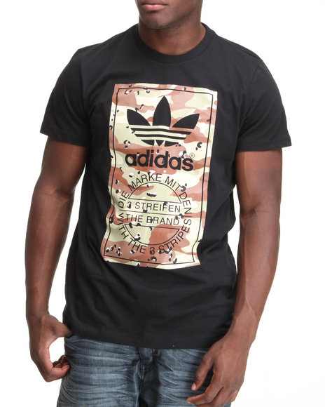 Adidas Men Black Camo Label Tee