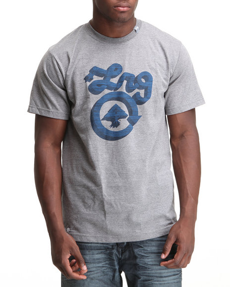 LRG Men Charcoal Core Collection Five S/S Tee
