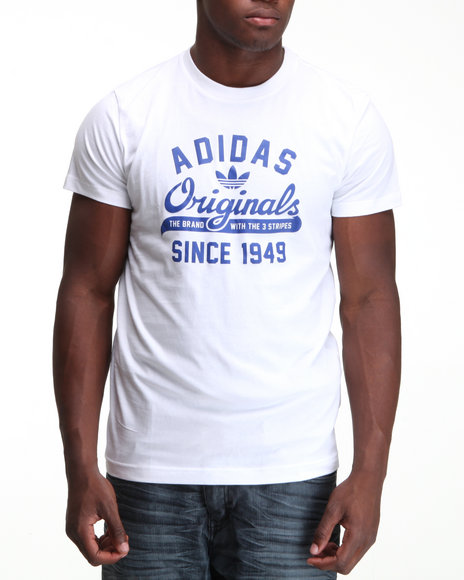 Adidas Men White Originals Sport Tee