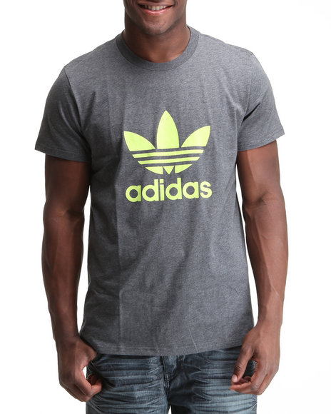 Adidas Men Grey Trefoil Tee