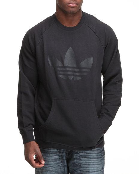 Adidas Men Black Sport Lite Crewneck French Terry Sweatshirt