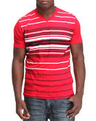 Company 81 - V-neck stripe engineered tee