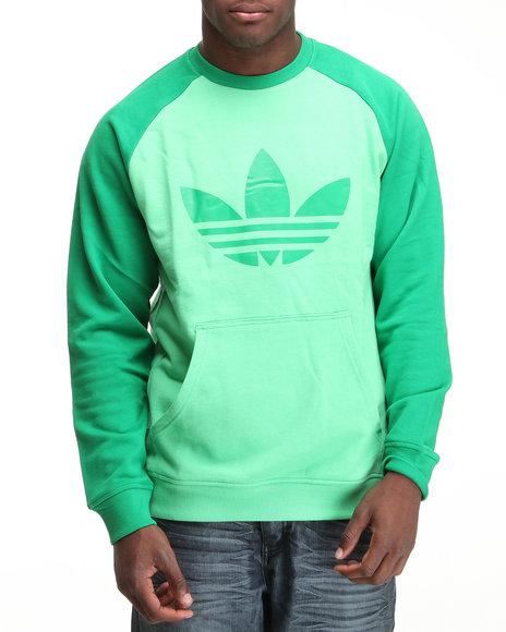 Adidas Men Green Sport Lite Crewneck French Terry Sweatshirt