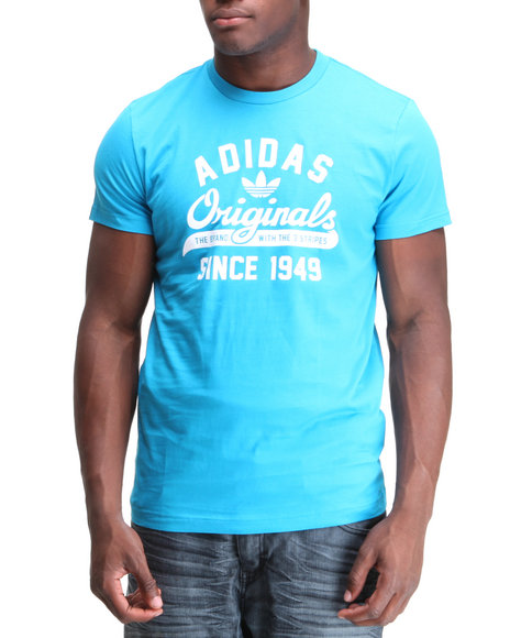 Adidas Men Teal Originals Sport Tee