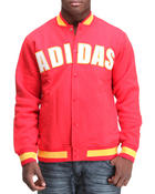 Men - Adidas Fleece Varsity Jacket