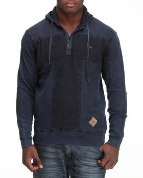 Girbaud - T - Block Textured Hooded Henley