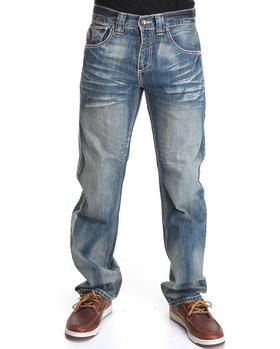 Pelle Pelle - Indigo Sand wash distressed denim jeans