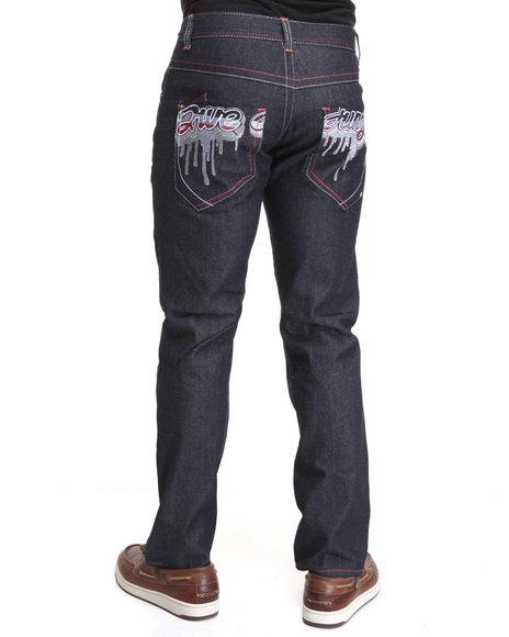 5Ive Jungle Men 5Ive Script Jeans Dark Wash 38x32