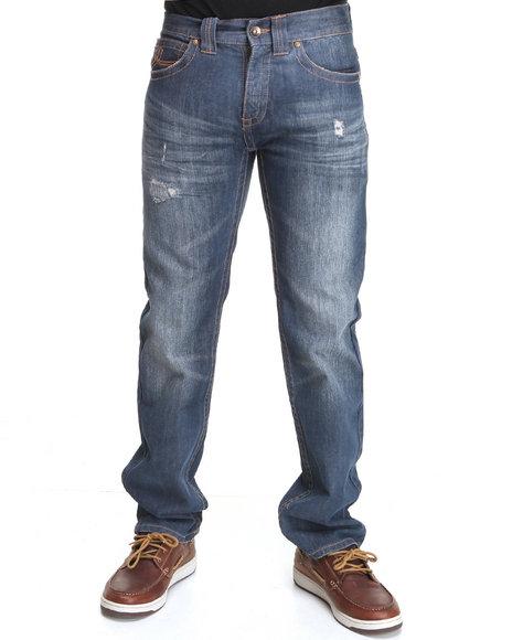 Pelle Pelle Medium Wash Pu Loop Denim Jeans
