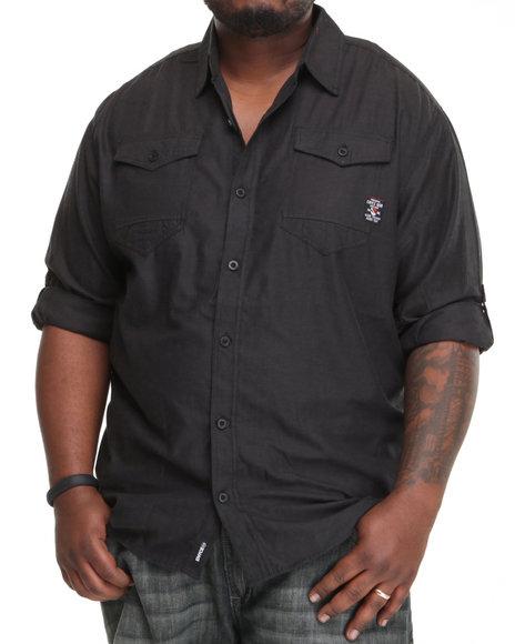 Enyce Men Black H.A.M. Long Sleeve Woven (B&T)