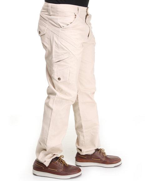 Pelle Pelle Men Khaki Pelle Fashion Cargo Pant
