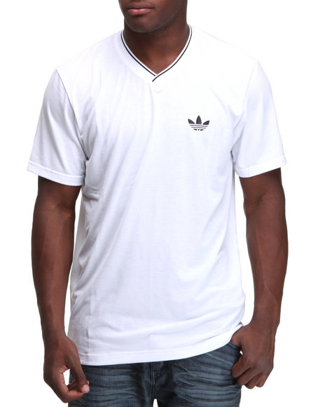 Adidas Men White Ultimate Vneck Tee