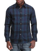 Men - Midnight Blue Plaid L/S Button-Down