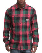 Men - Buffalo Plaid Flannel L/S Button-Down