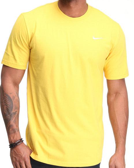 Nike Men Yellow Swoosh Tee