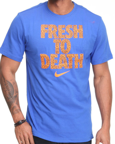 Nike Men Blue Qt Fresh To Death Tee