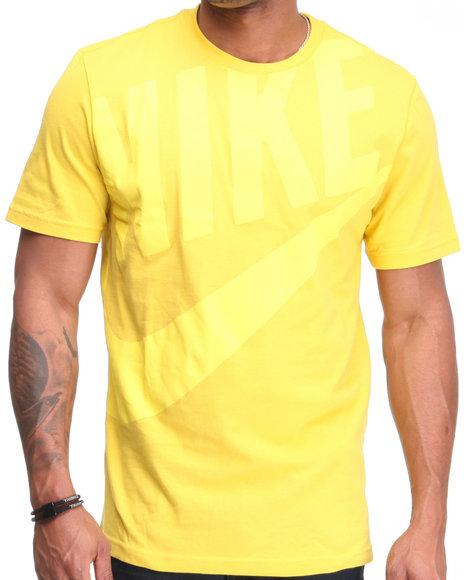 Nike Men Yellow Hbr Exploded Futura Tee