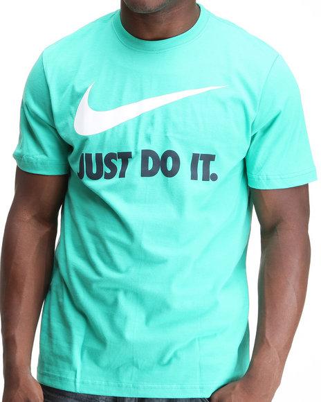 Nike Men Teal Jdi Swoosh Atomic Tee