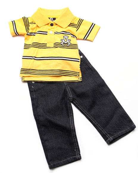 - 2pc Abner Polo Set (NB)