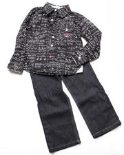 4-7x Little Boys - 2pc Kemistry Printed Woven Set (4-7)
