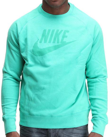 Nike Men Teal Limitless Washed Crewneck Sweatshirt