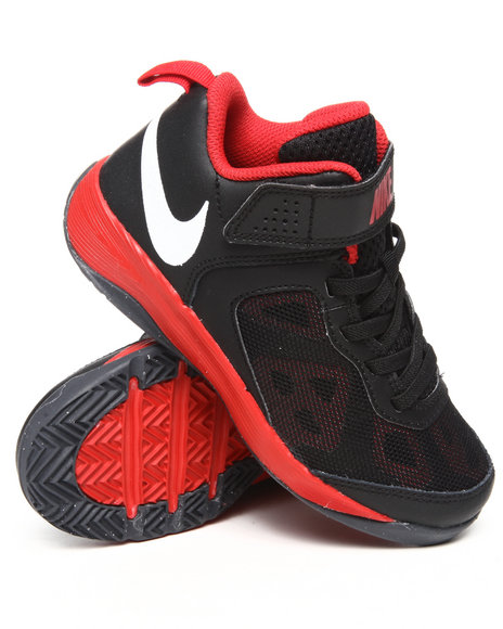 Nike Boys Black,Red Kids Fusion Bb Sneakers (Ps)