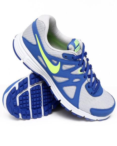 Nike Boys Silver Nike Revolution 2 Sneakers (Grade-school Kids)