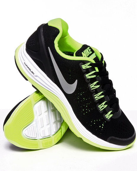 Nike Boys Black Nike Lunarglide Sneakers (Gs)
