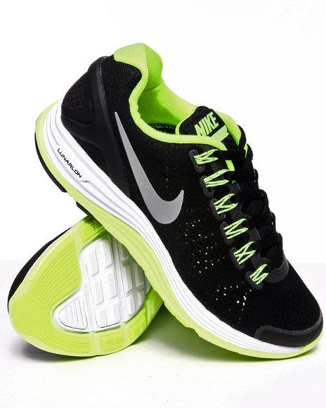 Nike Boys Black Nike Lunarglide Sneakers (Grade-school Kids)