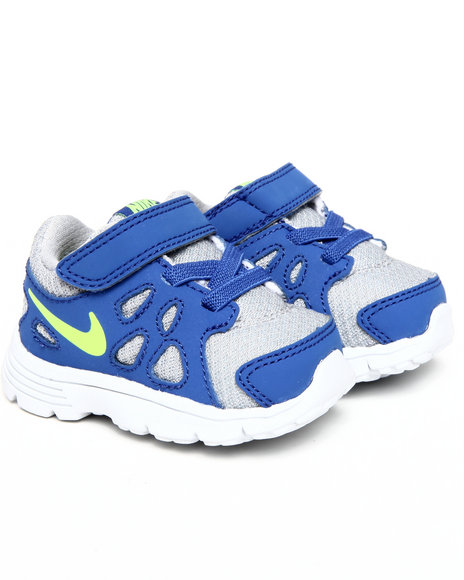 Nike Boys Blue,Silver Nike Revolution 2 Sneakers (Toddlers)