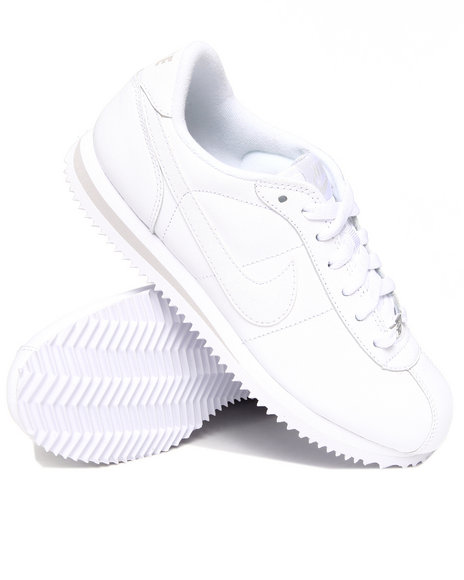 Nike Women White Wmns Cortez Leather Sneakers